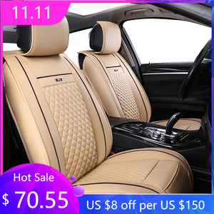Image 1 - leather car seat cover for TOYOTA Corolla RAV4 Highlander PRADO Yaris Prius Camry front and back Complete set car cushion cover