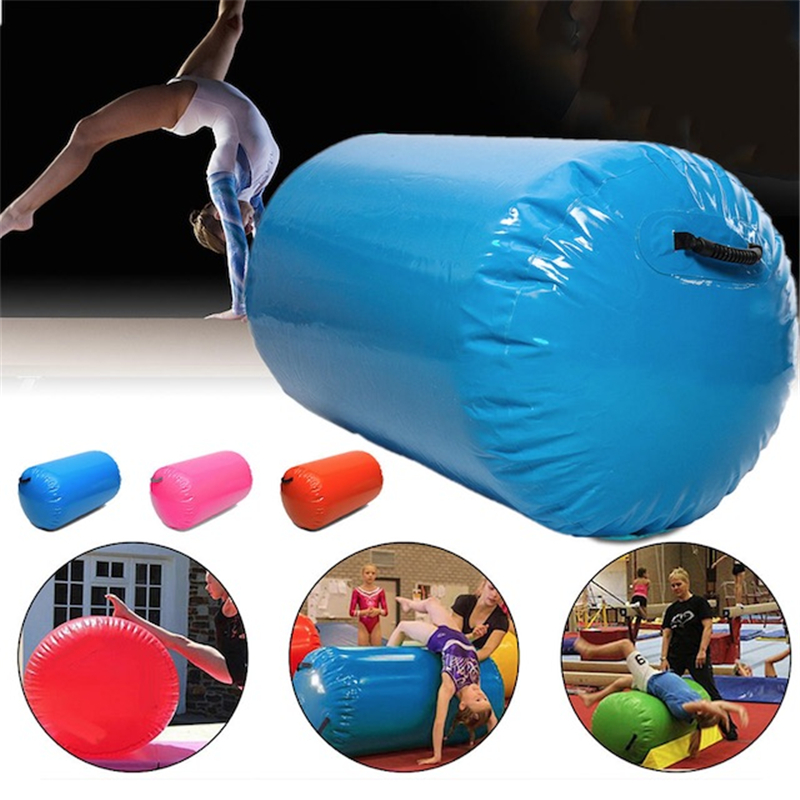 Air Roll Inflatable Gymnastics Air Barrel For Sale 100x60cm Free Shipping