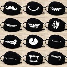 Máscara Unisex de algodón de dibujos animados, respirador festivo de fiesta, mantener calientes, lindos dientes, patrón, máscara, antipolvo, mufla, respirable, reutilizable