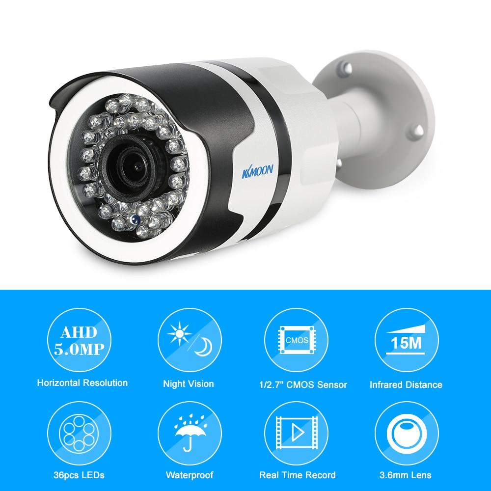 KKmoon 1080P 2MP AHD Dome Surveillance Camera 1//3'' CMOS 3.6mm Lens Night Vision