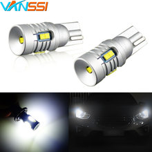 2pcs 6000K White 1000lm Super Bright 194 W5W T10 LED Canbus Bulbs 12V Car Parking Dome License Plate Light CSP Chipsets T10 Lamp