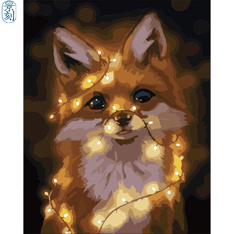 Fox Series .Hand Made Paint High Quality Canvas Beautiful Painting By Numbers Surprise Gift Great Accomplishment