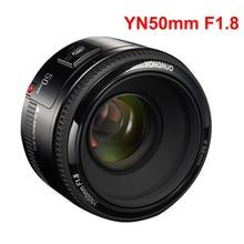 YONGNUO obiektyw YN50mm f1.8 YN EF 50mm f/1.8 soczewki AF YN50 przysłony automatyczne ustawianie ostrości obiektyw do modeli Canon EOS 60D 70D 5D2 5D3 600d lustrzanki cyfrowe