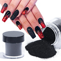 1 коробка, лазерный сахарный лак для ногтей, черные, белые сверкающие Порошковая голографическая блестящие, дизайн ногтей, блестки, пылезащи...