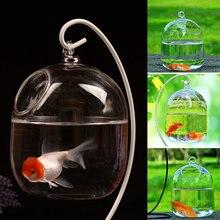 Рыбная чаша воздушные вазы для растений ручной работы вазы прозрачная подвесная аквариум Стеклянные Украшения аквариумные цветы резервуар для растений чаша