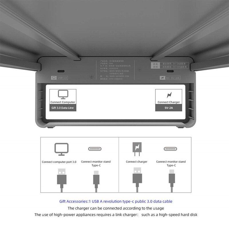 porta extensão do monitor suporte de armazenamento