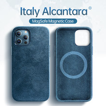 Sancore magsafe caso alcantara para apple iphone12 12pro 12promax 12mini caso magsafe mgnetic carga sem fio