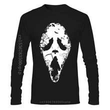 Funny Men t shirt white t-shirt tshirts Black tee Grim Reaper Scream Men T-Shirt Halloween Goth Horror Movie Printed T Shirts