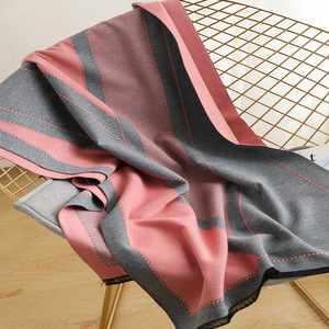 Image 5 - 2020 Luxury Women Winter Scarf Tartan Pattern Silk Feeling Modal Cashmere Shawl Femme Knit Wool Blanket Pashmina Ladies Echarpe