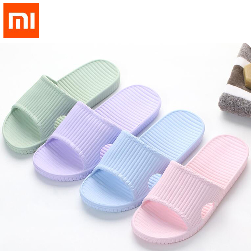 Xiaomi Mijia Slippers Soft Ladies Man Kids Bathing Sandals Children Casual Shoes Non-slip Home Shower Slippers
