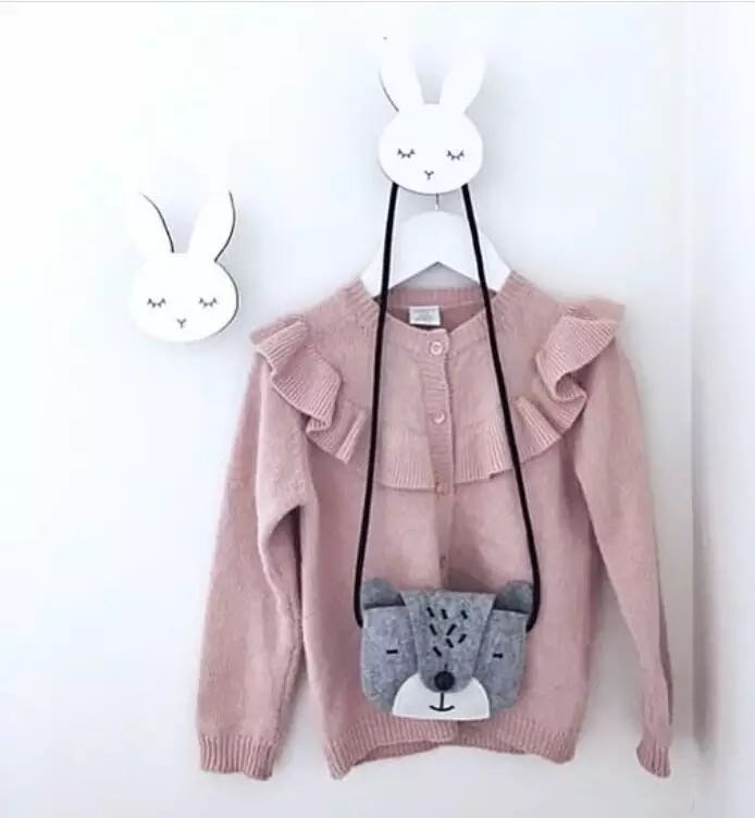 Nordic Kids Room Wall Hooks Bunny Wood Clothes Hook Kids Room Decoration Scandinavian Children Room Hooks Bunny Wall Stickers