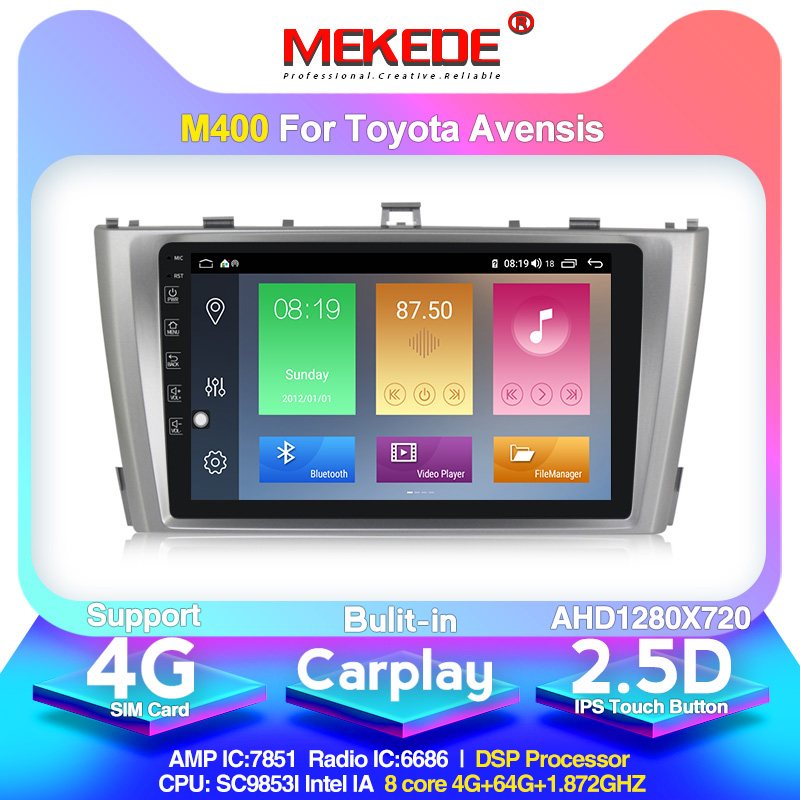 Android 10.0 Arrival!Mekede Car Multimedia Player Autoradio For Toyota T27 Avensis 2009-2014 With DSP Carplay Wifi BT Gps Radio