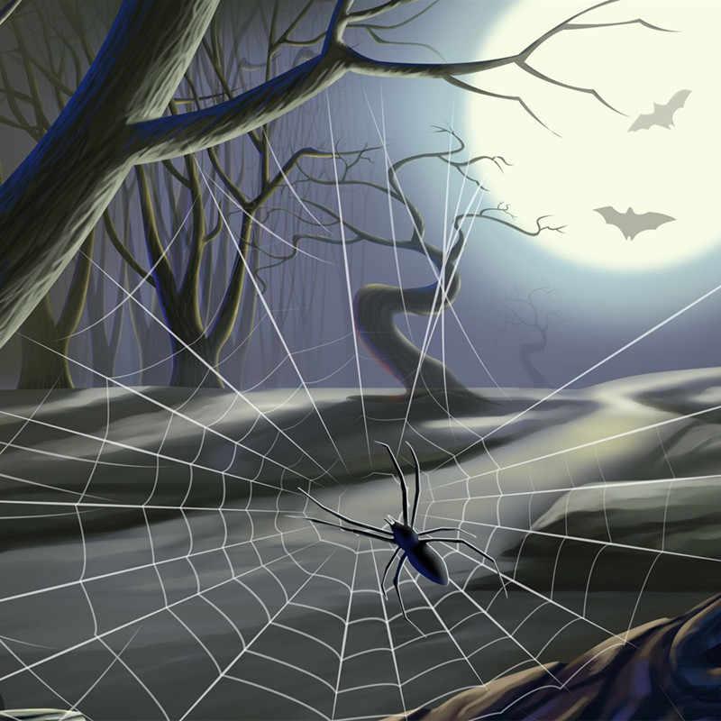 Halloween Party straszny nawiedzony dom dekoracje uszczelniające naklejki Halloween naklejki na okna Spider Web Halloween Horror strona