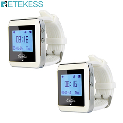 Retekess 2pcs 433MHz Watch Receivers Waiter Calling System wireless calling restaurant Equipment customer service church hotel