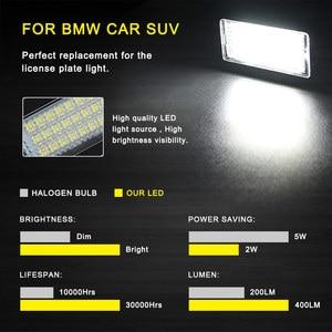 Image 3 - 2 PCS License Plate Light  Led Number Plate Holder Lamp No Error For BMW E39 E60 E60N E61 E90 E91 E90N E92 E93 E46 CSL E82