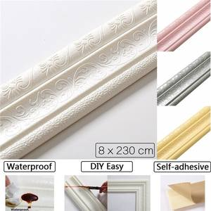 Sticker Tiles Wallpaper Border Corner-Line Strip-Wall Waist-Line 3D Waterproof Top