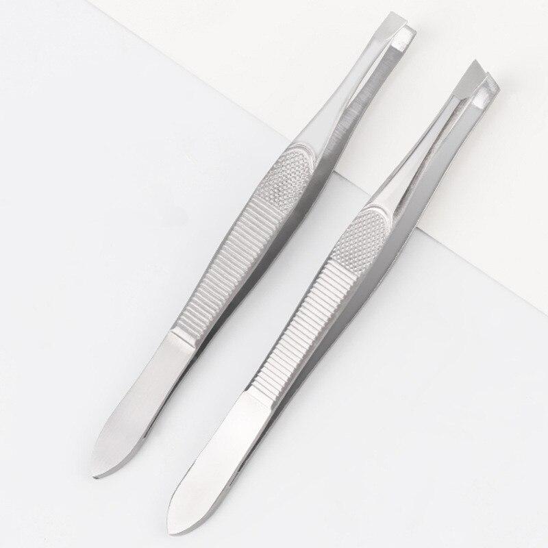 1Pcs Women Eyebrow Tweezer Face Nose Hair Clip Tweezer Remover Stainless Steel Tweezers Shape Tool Eyebrow Tweezers 9cm