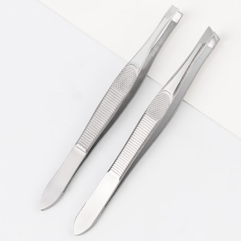1Pcs Women Eyebrow Tweezer Face Nose Hair Clip Tweezer Remover Stainless Steel Tweezers Shape Tool Eyebrow Tweezers 9cm
