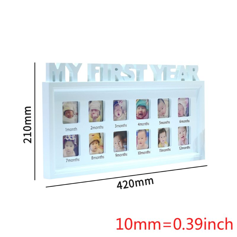 "Купить с кэшбэком Creative DIY 0-12 Month Baby ""MY FIRST YEAR"" Pictures Display Plastic Photo Frame Souvenirs Commemorate Kids Growing Memory Gift"