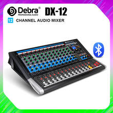 דברה אודיו DX 12 12 ערוץ אודיו מיקסר dj בקר קול לוח עם 24 DSP אפקט USB Bluetooth XLR שקע aux קלט