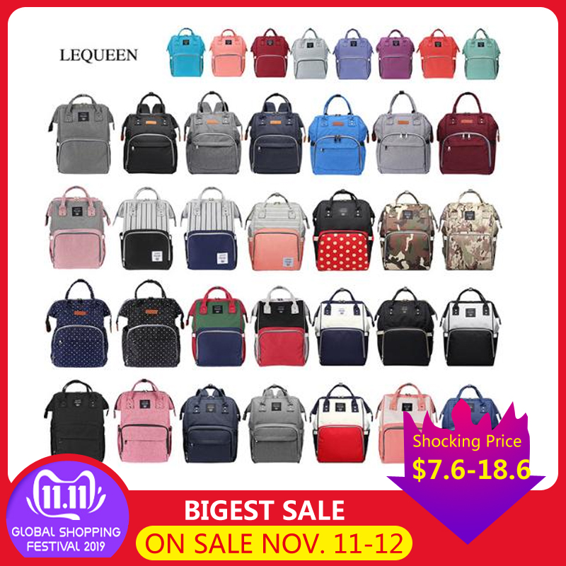 Lequeen Outdoor Backpack Diaper Nursing Fashion Mummy Maternity Nappy Bag Large Capacity Baby LeisureDiaper Travel  Baby Care
