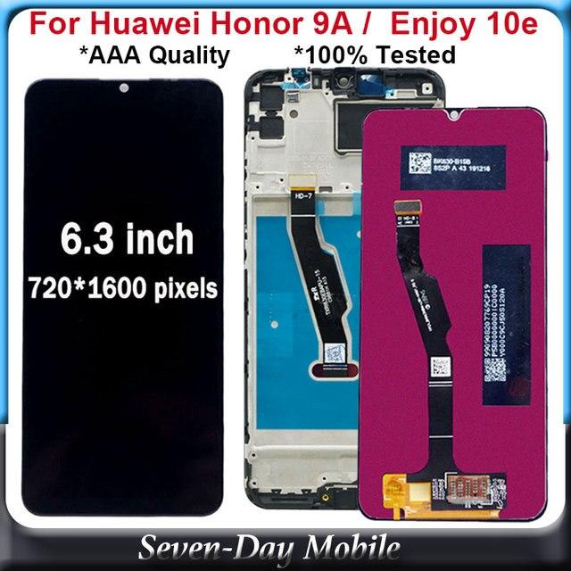 ЖК дисплей 6,3 дюйма для Huawei Honor 9A, ЖК дисплей с дигитайзером сенсорного экрана в сборе для Huawei Enjoy 10e, ЖК дисплей