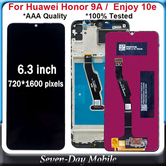 6.3inch LCD For Huawei Honor 9A LCD Display with Touch Screen Digitizer Assembly For Huawei Enjoy 10e LCD Display Screen