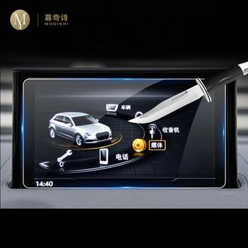 Para Audi A3, S3, RS3, RS5, RS6, RS7, 8V, película de navegación GPS para coche, pantalla LCD, película protectora de vidrio templado, reajuste antiarañazos, 8 pulgadas