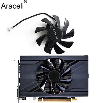 T129215SU RX 570 470D wentylator karty graficznej chłodnicy dla Radeon sapphire RX470D RX570 ITX układ chłodzenia karty graficznej jako zamiennik tanie i dobre opinie Araceli CN (pochodzenie) Karta graficzna 5 1 w Łożysko olejowe 100 000 godzin 2800 RPM 28dBA 28CFM 4 LINIE 4PIN Z tworzywa sztucznego
