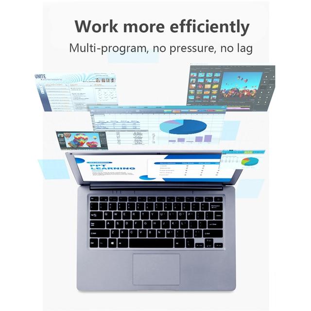 KUU SBOOK M1 13.3 inch Intel J3455 Student Laptop Notebook 6GB RAM 128GB SSD Laptop Windows 10 Intel Celeron J3455 Wifi Computer 3
