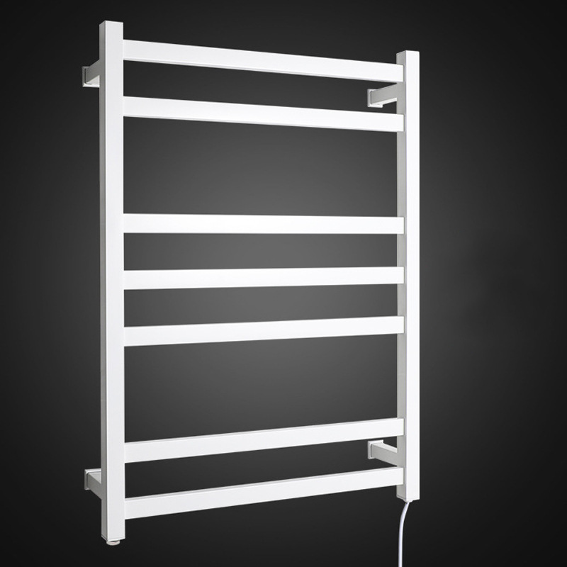 Elegant Beauty Manufacturers Wholesale 304 Stainless Steel Black And White With Pattern Electric Heated Towel Rail Bathroom Hard