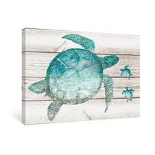 Картина на холсте с изображением морской черепахи настенные