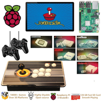 Raspberry Pi 3 Model B+ Arcade Video Game Console Retropie Arcade Cabinet DIY 18000+ Retro Arcade Games Emulation Station ES