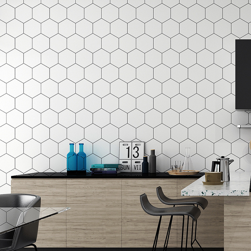 Plastic Vinyl Peel And Stick Wall Papers Home Decor Bathroom Kitchen PVC Mosaic Self Adhesive Wallpaper Waterproof Tile Stickers