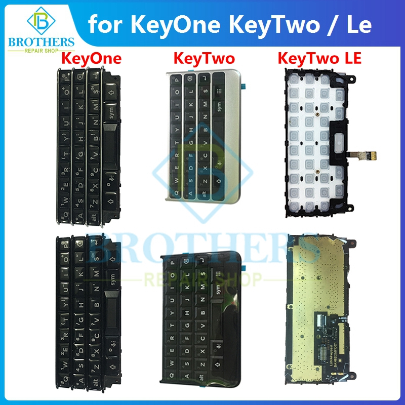 Keypad for BlackBerry Keytwo Key2 LE KeyOne DTEK70 Keyboard Button With Flex Cable Phone Replacement Parts Black Silver Test Top(China)