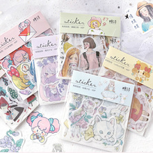 40pcs/lot Lovely Japanese Girl series Paper Sticker Decoration Diy Ablum Scrapbooking Label Stickers Gift for girl