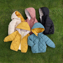 Children #8217 s Outerwear amp coat Boy Girl 2020 Autumn Winter Fashion Warm Hooded Coat Children Cotton-padded Jacket Toddler Outerwear cheap Farthestsailing Polyester Fiber CN(Origin) Solid Regular baby winter coat zipper Unisex Fits true to size take your normal size