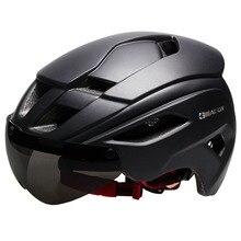 Велосипедные шлемы матовый черный мужской женский велосипедный шлем горный шоссейный велосипед цельно формованные велосипедные шлемы линзы