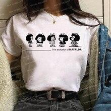 Funny Mafalda t shirt women Harajuku cute comic cartoon Short Sleeve Kawaii Casual Christmas Mafalda Graphics Korean Style Tops