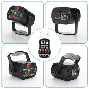 Image 2 - 미니 RGB 디스코 조명 효과 LED 무대 레이저 프로젝터 레드 블루 그린 램프 USB 충전식 웨딩 생일 파티 라이트