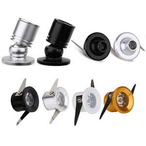 1W 3W Led cabinet mini spot light 110V 220v downlight 12v dc jewelry show Include Led Driver 4000K Ceiling light lamp