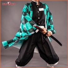 UWOWO новый дизайн Tanjirou Kamado Косплей Аниме Kimetsu no Yaiba демон костюм убийцы Nezuko Zenitsu Tomioka Giyuu