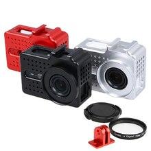 Алюминиевый Корпус чехол Защитная прочная клетка для xiaoyi 4k plus 40,5 мм УФ фильтр металлическое Крепление для аксессуаров для камеры yi2 lite