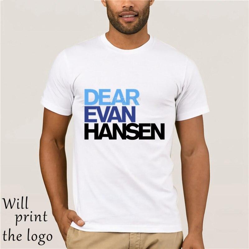 Casual Apparel Fashion Dear Evan Hansen Men Unisex T-Shirts Tees Tops Dear Esther Musical Broadway Hansen Lyrics Funny T Shirt