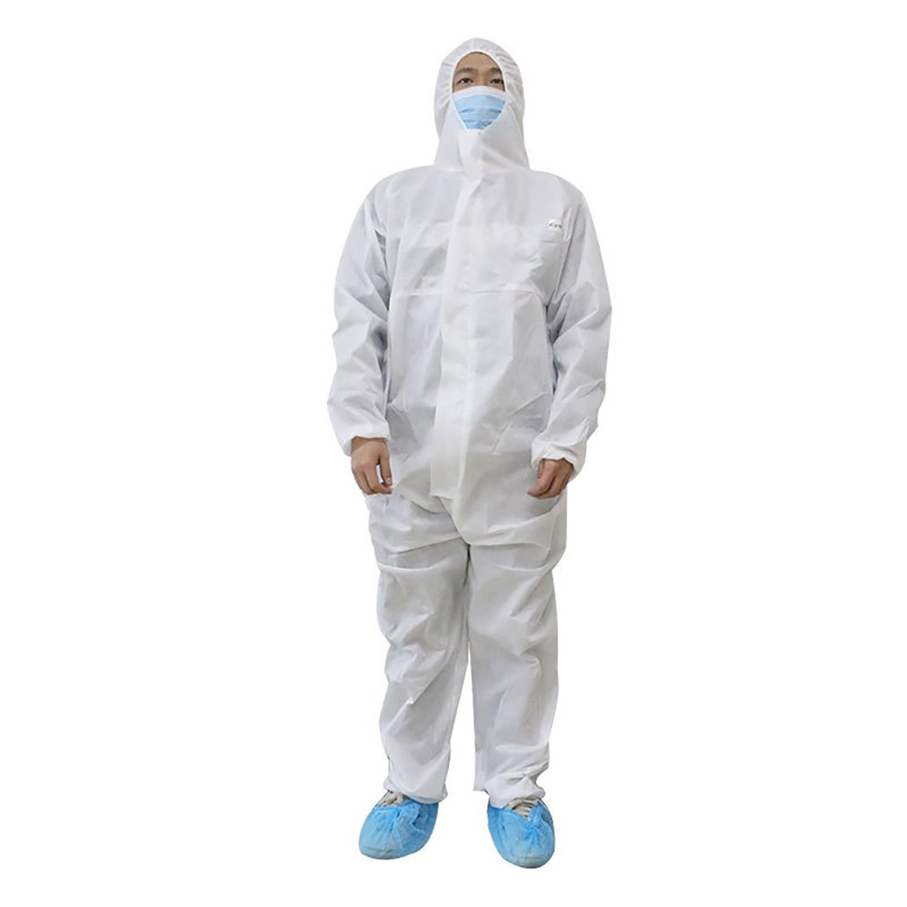 Disposable Protective Clothing For Hospital Siamese Non-woven Breathable Dustproof And Waterproof Insulation Clothing 1 Pcs