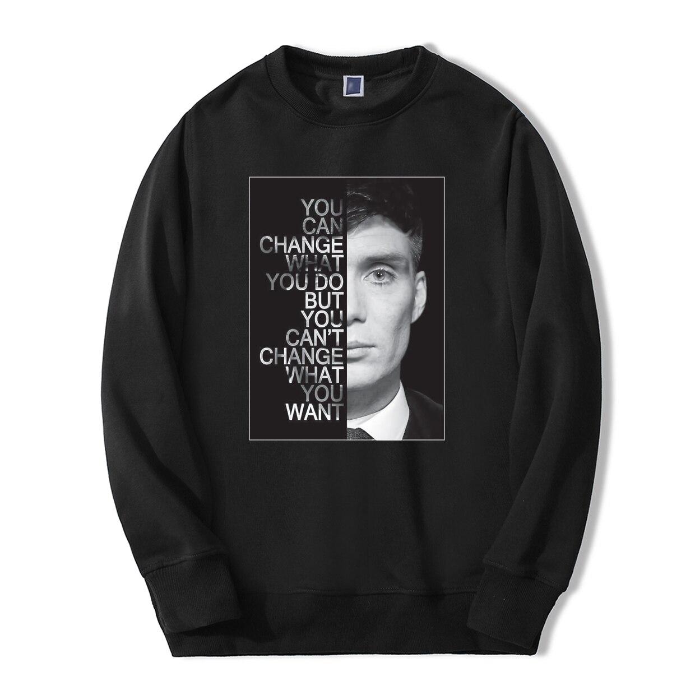 2019 New Spring Winter Men Sweatshirts Hooides Peaky Blinders TV Show Hip Hop Hoodie Fleece Loose Fit Hooded Men