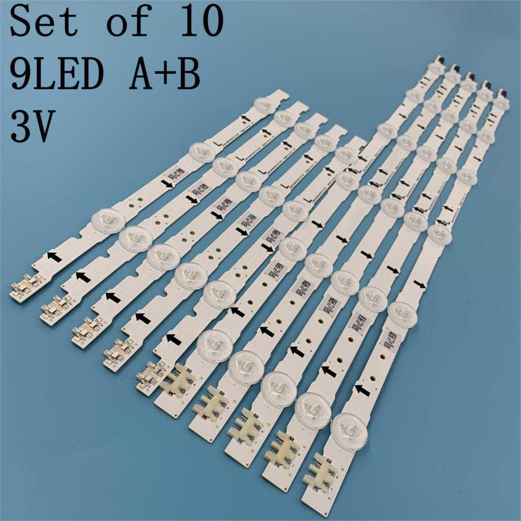 New Original 10Pieces(5*3LED+5*6LED) UE40H6500 LED Backlight Bar D4GE-400DCA-R1 R2 D4GE-400DCB-R1 R2 30449A 30450A