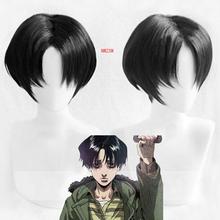 Zabijanie prześladowanie Yoon Bum Yoonbum krótki czarny żaroodporne przebranie na karnawał peruka + czapka z peruką tanie tanio NWZSM Nakrycia głowy anime Akcesoria Syntetyczny