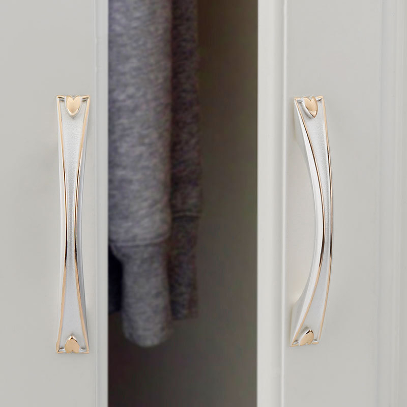 Simanfei 4Pcs Door Handle European Gold and Silver Cabinet Wardrobe Chinese Classical Bronze Furniture Hardware Accessories in Door Handles from Home Improvement