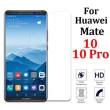 tempered glass for huawei mate 10 pro screen protector huawai mat 10lite armor huawey pro10 protective display huawei mate 10(China)